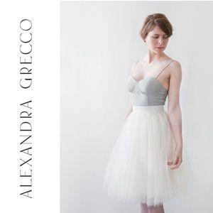 Alexandra Grecco Ivory Gretta Tulle Skirt